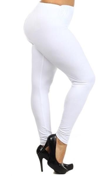 8fca4a52ad7 Leggings for Women Solid White Full   Capri Length MomMeAndMore.com – MomMe  and More