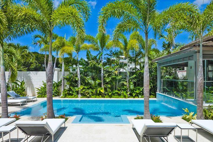 Villa Bonita in Barbados is an opulent modern villa built on a cliff. This beachfront villa has far-reaching views across the Caribbean Sea.