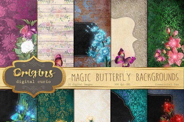 Magic Butterfly Backgrounds - Textures