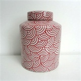 CAN12702 Cannister Arc Raspberry/White