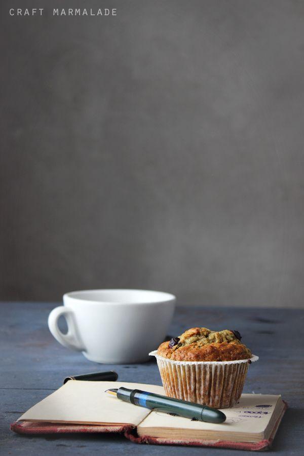 Muffin integrali soffici ai mirtilli e yogurt (olio)