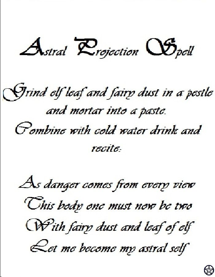 Astral Projection Spell (Charmed)