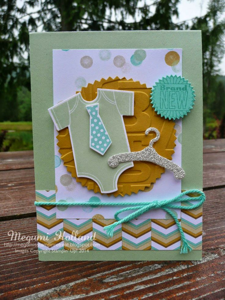 Megumi's Stampin Retreat, Stampin' Up! Something for Baby Stamp Set, Baby's First Framelits