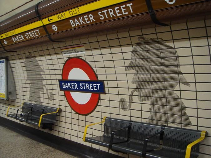 Baker Street Tube Station With Sherlock Holmes London. Love it!