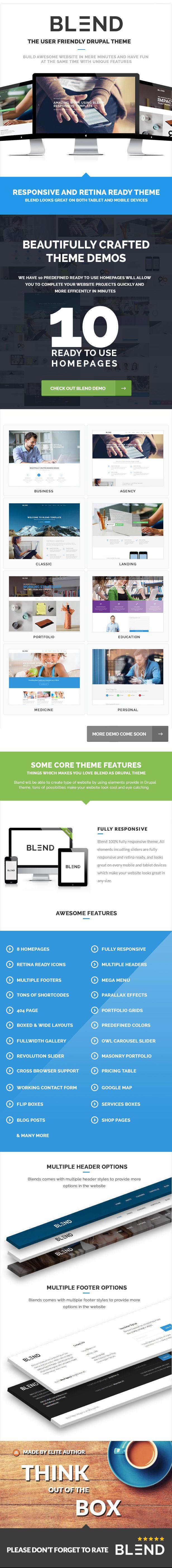 30 best top drupal themes images on pinterest website template