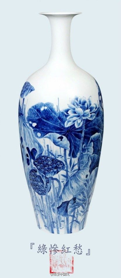 Chinese blue and white porcelain  China porcelain 青花瓷  http://www.cultureincart.com/story/blue-and-white-porcelain.html