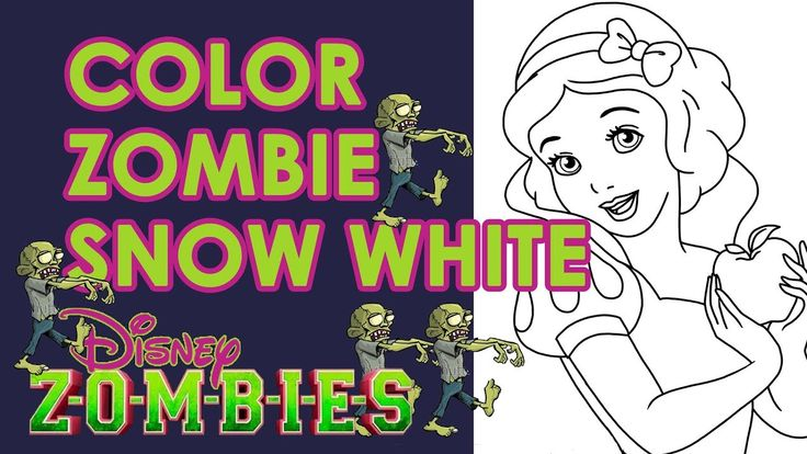 Color Draw Zombie Snow White In Honor Of Disney S Zombies Movie Zombie Disney Disney Coloring Pages Avengers Coloring Pages