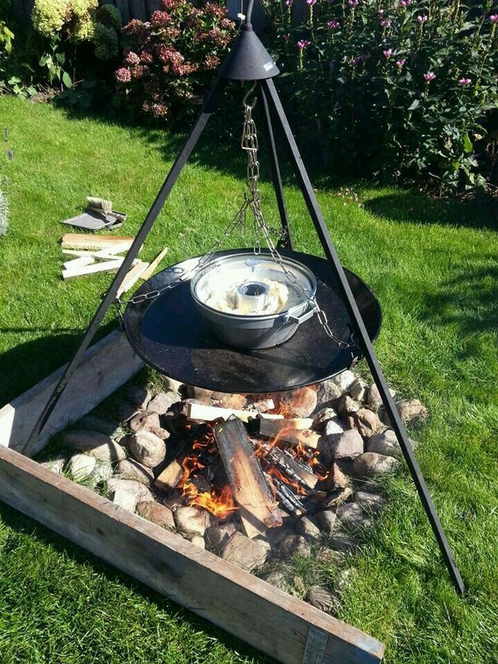 De wonderpan kan ook mee naar de camping en op een skottel gebruikt worden