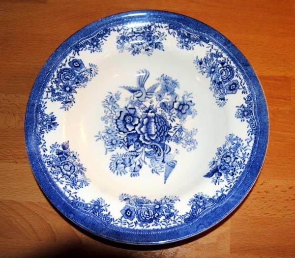 Egersund Blå fasan suppetallerken. 22,5 cm i diameter
