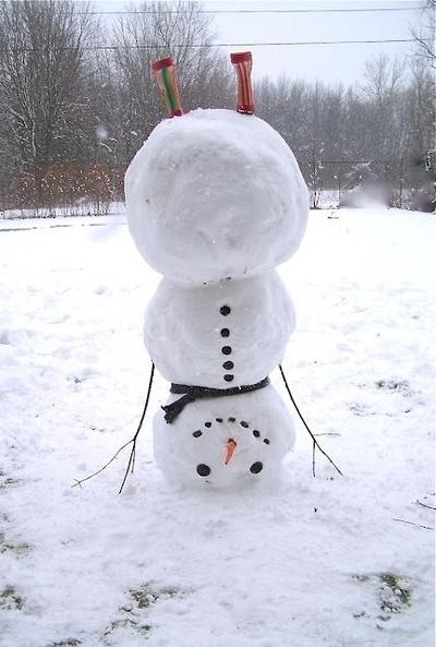Leuk idee. Let it snow! Dan kan ik er straks ook zo eentje maken :)