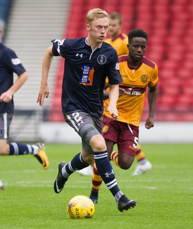 Queen's Park's Ross Millen in action during the Betfred Cup game between Queen's Park and Motherwell.