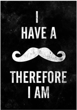 Mustache Quote Print Typography Poster A3 By handz - contemporary - Artwork - Etsy