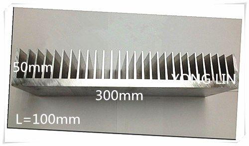 1pcs Aluminum/Aluminum radiator/Heatsink High-power heat sink Aluminum Radiator 100*300*50white customize