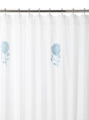 80% OFF Haute Home Sunflower Shower Curtain, Blue