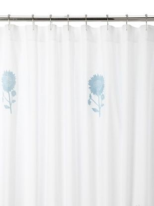 78% OFF Haute Home Sunflower Shower Curtain, Blue