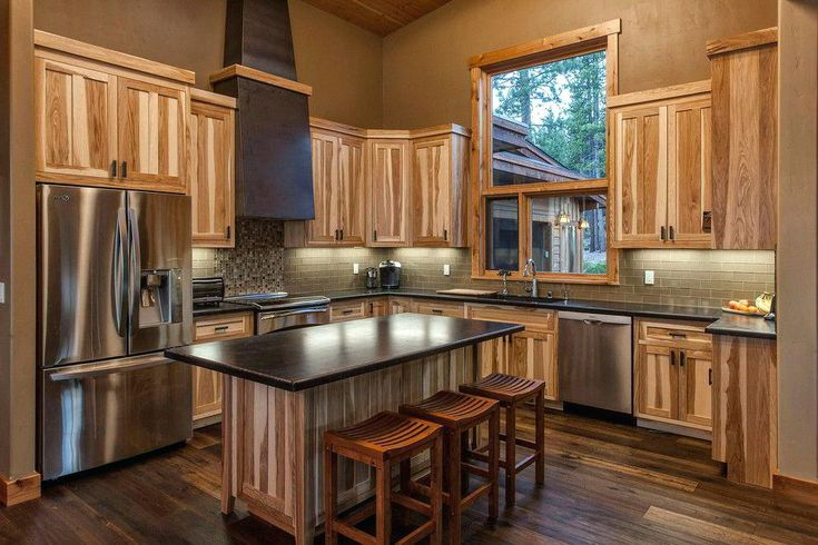 Best Kitchens With Hickory Cabinets And Wood Floors Ideas To 640 x 480