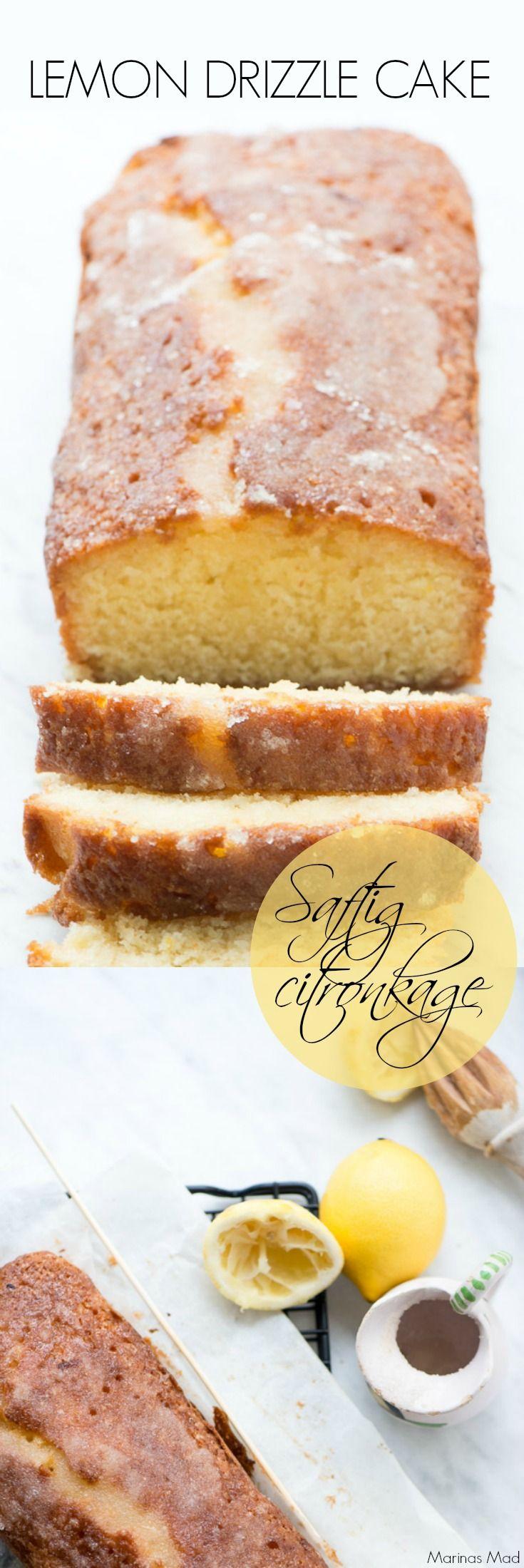 Den engelske lemon drizzle cake er en fantastisk skærekage. Nem at lave og altid populær, fordi den er saftig og samtidigt knasende på toppen. Opskrift fra Marinas Mad