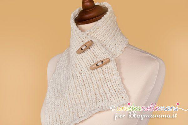 Come fare un scaldacollo a maglia in lana per l'inverno facile e veloce. Con spiegazioni e schema.