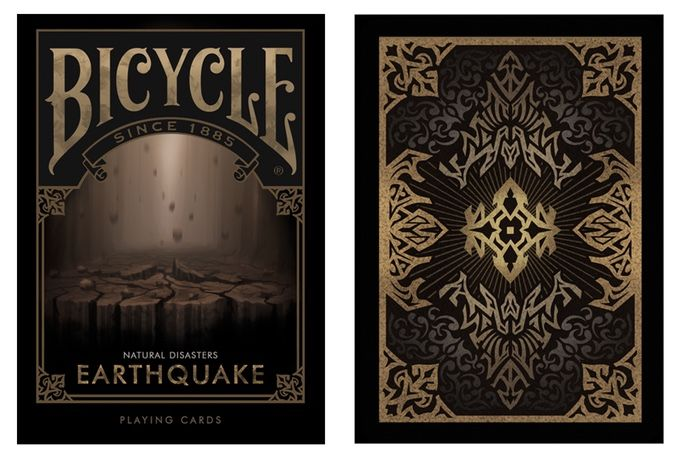 "Bicycle Natural Disasters ""Earthquake"" Playing Cards by Collectable Playing Cards. Printed by USPC under the Bicycle brand."