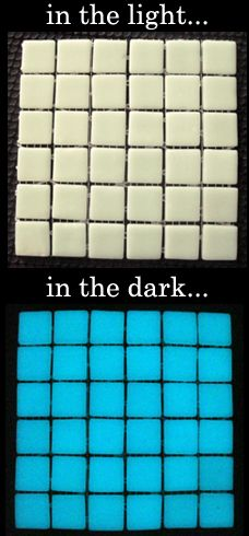 glow in the dark pool tile