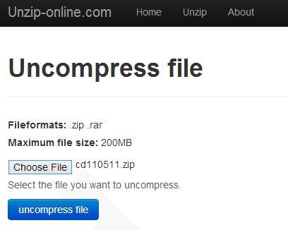 16 Free File Extractors for ZIP, RAR, 7Z, & Other Compressed Formats: Unzip-Online