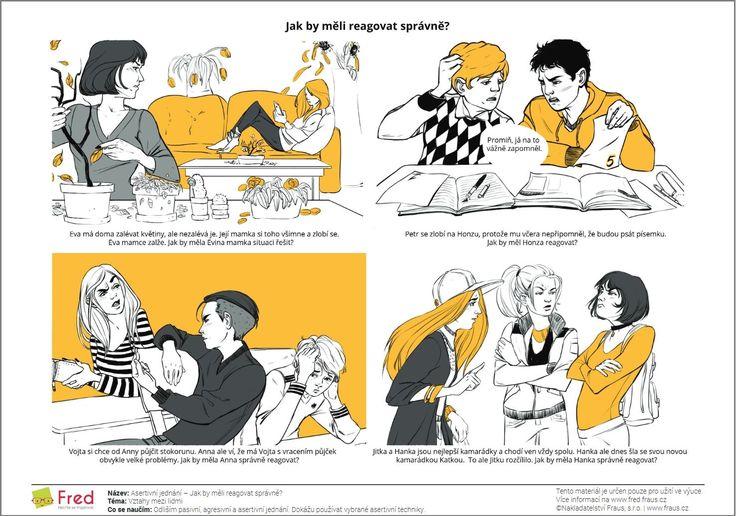 Procvičujte se žáky různé způsoby komunikace pomocí pracovních listů - Fred - Nechte se inspirovat