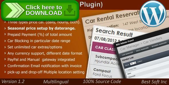 [ThemeForest]Free nulled download Car Rental System (WordPress Plugin) from http://zippyfile.download/f.php?id=39999 Tags: ecommerce, bike rental, booking, bus rental, car booking system, car rental script, car reservation system, car selling, rent a car, Ski Hire, truck rental, WordPress  car renal, WordPress car, wp car manager, wp car rental system, wp car script