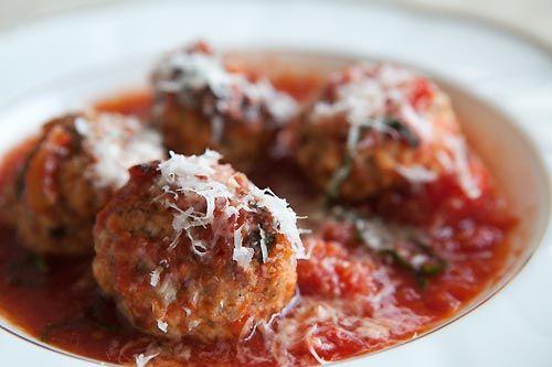 meatballs with ground pork shoulder, Italian sausage, bread, ricotta ...