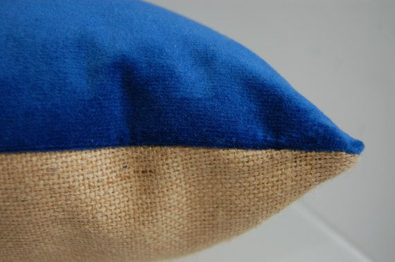 Blue Velvet Cushion by OhILoveThatLdn on Etsy