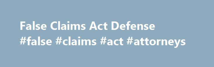 """False Claims Act Defense #false #claims #act #attorneys http://boston.remmont.com/false-claims-act-defense-false-claims-act-attorneys/  # Updates developments on False Claims Act issues They say bad facts make bad law. And in the world of the False Claims Act (""""FCA"""") 31 U.S.C. § 3729, et seq.. where much law is made at the dismissal stage, bad allegations can be just as dangerous. When the Triple Canopy case (U.S. ex rel. Badr v. Triple Canopy, Inc. ) was on appeal before the Fourth Circuit…"""