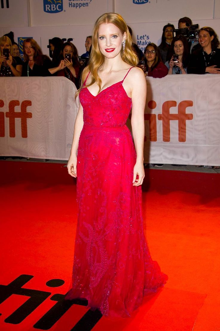 Jessica Chastain in Zuhair Murad at the Toronto Film Festival premiere for Woman Walks Ahead on September 10, 2017.