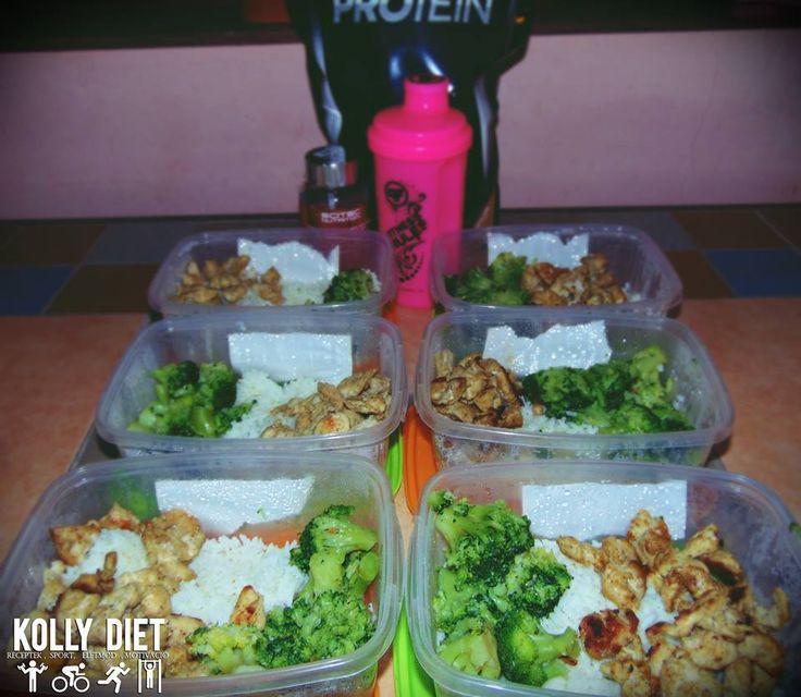 #chicken #rice #broccoli #protein #fitness #diet #kolly