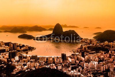 """Stampa su tela """"Tramonto Rio de Janeiro"""". #regala un #quadro #stampa su #tela per #cameradaletto"""
