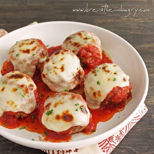 Low Carb Meatballs alla Parmigiana (Gluten Free) - I Breathe... I'm Hungry...