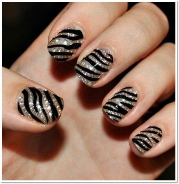 Zebra Nails  Beauty  Zebra nails Nail designs Nails