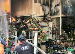Se incendió el mercado de Jamaica en la CDMX