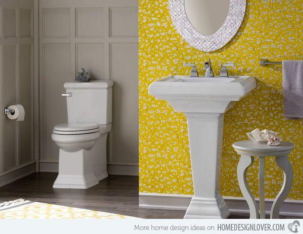 Photo Image  Charming Yellow Bathroom Design Ideas