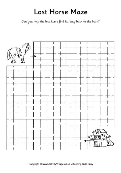 Lost horse maze