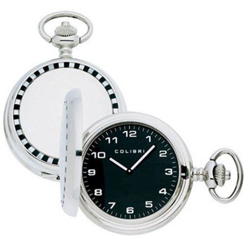 Colibri Pocket Watch Racer Onix and Mother of Pearl Insert Cover Model PWQ096815 Colibri. $34.95