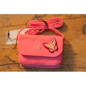 Etoi Design - różowa torebka z motylkiem