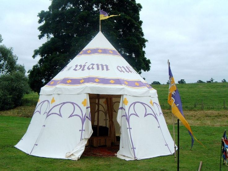 Found on greydragon.org. This is what I want to aim towards in terms of my SCA camping gear.