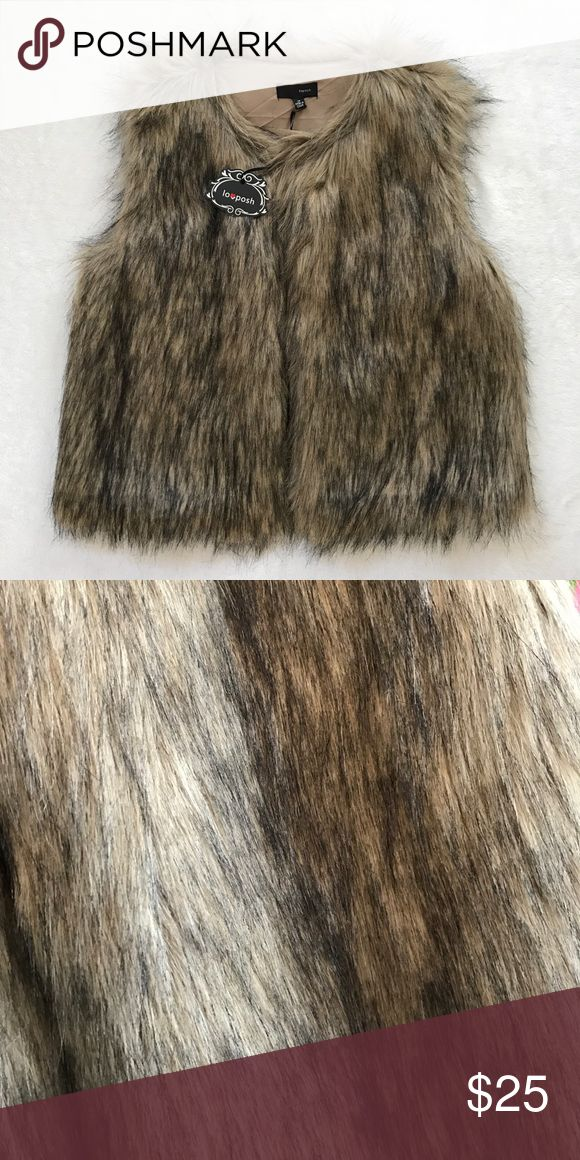 Fur vest Get ready for fall/winter with this super cute fur vest! Brand new with tags, boutique brand! Jackets & Coats Vests