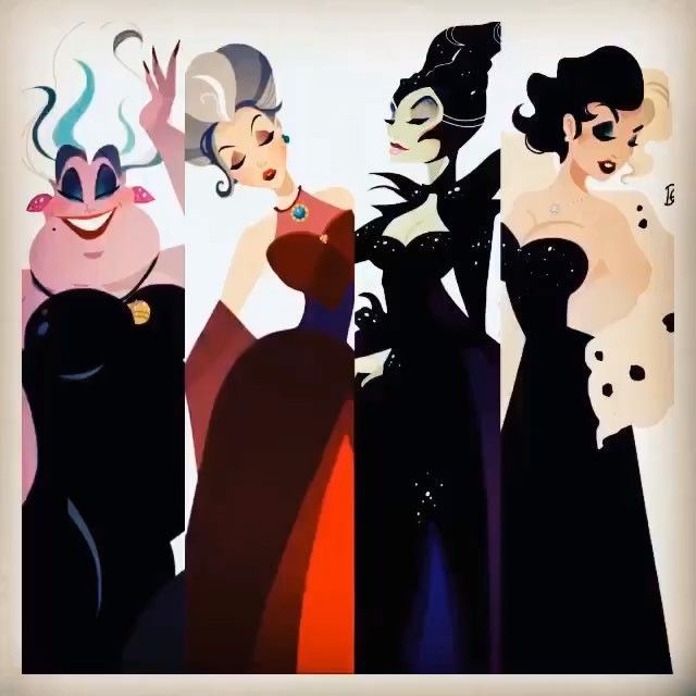Ursula, Lady Tremaine, Maleficent, and Cruella. The bad Disney villains are sure looking good! Now check out their wicked cute shoes: http://skreened.com/myhearthasears/if-the-shoe-fits-villains