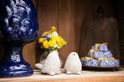 Decoração de casamento: Amarelo e azul | http://www.blogdocasamento.com.br