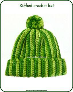 Crochet ribbed hat ~ free pattern