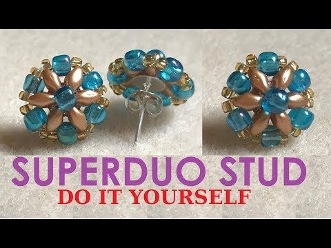 STUD Earring -- Low Music - Learn with steps  DIY - YouTube