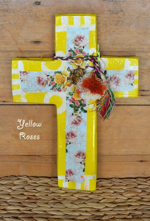 Yellow Roses Wall Cross | Ahoy Trader - The Freedom State