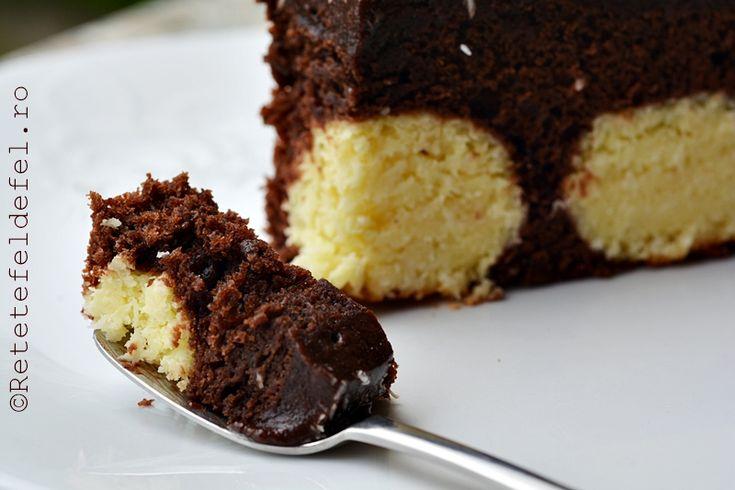 prajitura de ciocolata cu bile de cocos
