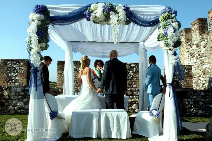 Civil wedding on lake Garda