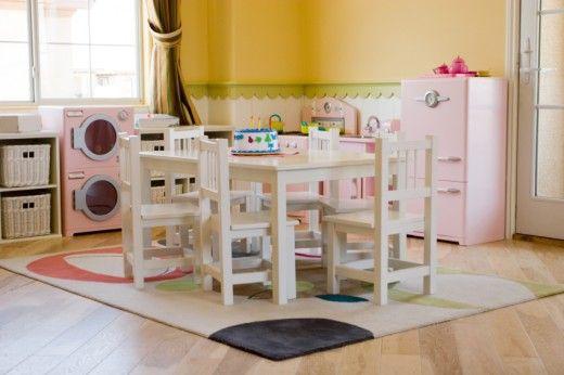 children's kitchen sets   Children's playroom with play kitchen